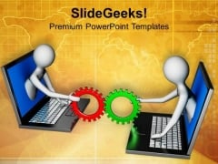 Online Teamwork Concept PowerPoint Templates Ppt Backgrounds For Slides 0813