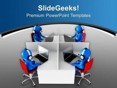 Online Technology Help Center PowerPoint Templates Ppt Backgrounds For Slides 0713