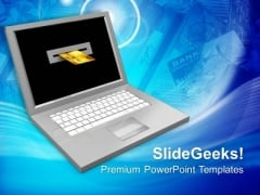Online Transaction Concept PowerPoint Templates Ppt Backgrounds For Slides 0113