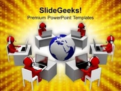 Open A Bpo For Global Consultancy PowerPoint Templates Ppt Backgrounds For Slides 0613