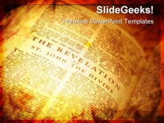 Open Bible The Revelation Religion PowerPoint Templates And PowerPoint Backgrounds 0211