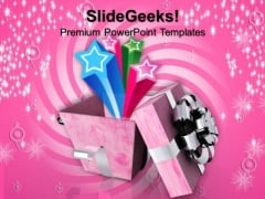 Open Gift Box Symbol PowerPoint Templates And PowerPoint Themes 1012