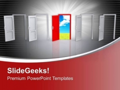 Open The Door For Freedom PowerPoint Templates Ppt Backgrounds For Slides 0413