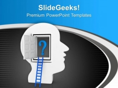 Open The Door Of Business Ideas PowerPoint Templates Ppt Backgrounds For Slides 0713