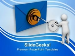 Open The Right Envlope Of Information PowerPoint Templates Ppt Backgrounds For Slides 0713