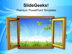 Open The Window Of Opportunity PowerPoint Templates Ppt Backgrounds For Slides 0613