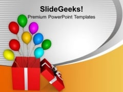 Opened Red Box Balloons Slide Layout PowerPoint Templates Ppt Backgrounds For Slides 0113