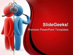Operators Dialoge Business PowerPoint Themes And PowerPoint Slides 0711