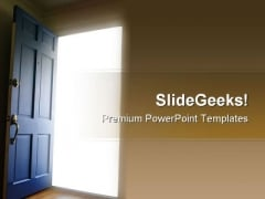Opportunity Door Business PowerPoint Templates And PowerPoint Backgrounds 0911