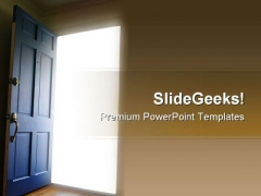 Opportunity Door Business PowerPoint Themes And PowerPoint Slides 0911