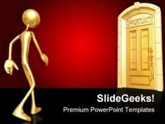 Opportunity Doorway Business PowerPoint Themes And PowerPoint Slides 0811
