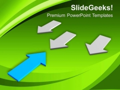 Opposite Arrows Pointing Each Other Success PowerPoint Templates Ppt Backgrounds For Slides 0213