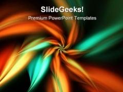 Orange Green Flower Beauty PowerPoint Template 0910
