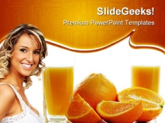 Orange Juice Health PowerPoint Templates And PowerPoint Backgrounds 0311
