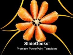 Orange On Black Food PowerPoint Templates And PowerPoint Backgrounds 0611