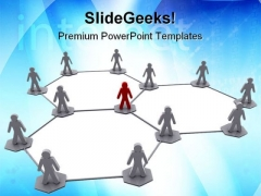 Organisation Network Leadership PowerPoint Themes And PowerPoint Slides 0711