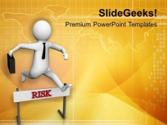 Overcome Risk Milestones PowerPoint Templates Ppt Backgrounds For Slides 0813