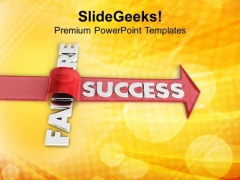 Overcoming An Obstacle And Achieving Success PowerPoint Templates Ppt Backgrounds For Slides 0413
