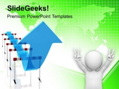 Overcoming Hurdles And Finally Achieve Success PowerPoint Templates Ppt Backgrounds For Slides 0413
