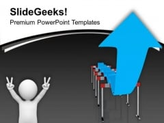 Overcoming Hurdles In Business Development PowerPoint Templates Ppt Backgrounds For Slides 0413