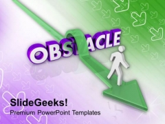 Overcoming Obstacle To Achieve Goal PowerPoint Templates Ppt Backgrounds For Slides 0413
