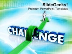 Overcoming The Challenge PowerPoint Templates Ppt Backgrounds For Slides 0413