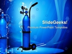 Oxygen Cylinder Science PowerPoint Backgrounds And Templates 1210