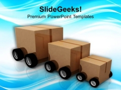 Package Car For Distribution Of Supplies PowerPoint Templates Ppt Backgrounds For Slides 0313