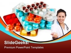 Packs Of Pills Medical PowerPoint Background And Template 1210