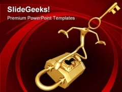 Padlock Surfing Security PowerPoint Templates And PowerPoint Backgrounds 0711