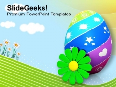 Painted Eggs With Flower Spring Season PowerPoint Templates Ppt Backgrounds For Slides 0313