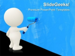 Painting Wall Art PowerPoint Templates And PowerPoint Backgrounds 0611