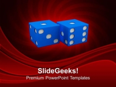 Pair Of Dice For Betting And Gambling Game PowerPoint Templates Ppt Backgrounds For Slides 0313
