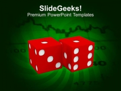 Pair Of Red Dice Showing Risk Business PowerPoint Templates Ppt Backgrounds For Slides 1212