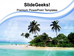 Palm Trees Beach PowerPoint Templates And PowerPoint Themes 0512