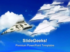 Paper Airplanes Money PowerPoint Templates And PowerPoint Backgrounds 0211