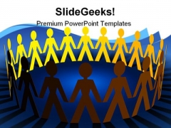 Paper Chain Leadership PowerPoint Templates And PowerPoint Backgrounds 0711