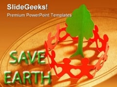 Paper Chain To Save Trees Global PowerPoint Backgrounds And Templates 1210