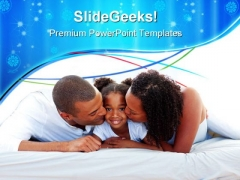 Parents With Daughter Family PowerPoint Themes And PowerPoint Slides 0611