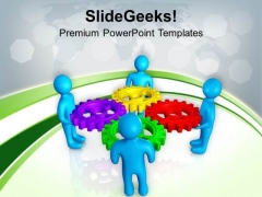 Part Of Solution And Team PowerPoint Templates Ppt Backgrounds For Slides 0513