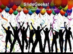 Party Background Lifestyle PowerPoint Templates And PowerPoint Backgrounds 0811