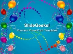 Party Balloons Abstract Background PowerPoint Themes And PowerPoint Slides 0811