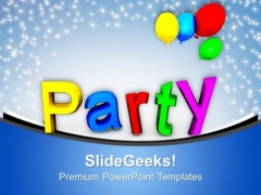 Party Balloons Holiday PowerPoint Templates Ppt Background For Slides 1112