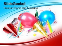Party Celebration Festival PowerPoint Background And Template 1210