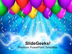 Party Theme Balloons For Celebration PowerPoint Templates Ppt Backgrounds For Slides 0613