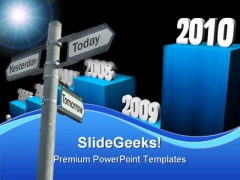 Path Future PowerPoint Template 0510