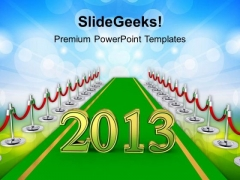 Path To New Year Business PowerPoint Templates Ppt Backgrounds For Slides 1212