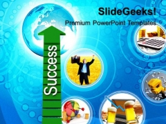 Path To Success Business PowerPoint Templates And PowerPoint Themes 0612