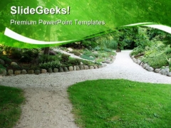 Pathway Nature PowerPoint Themes And PowerPoint Slides 0811