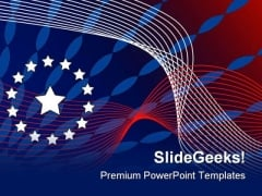 Patriotic Abstract Background PowerPoint Templates And PowerPoint Backgrounds 0711